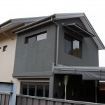 Brockway Road exterior 2: Pictured here is the modern extension added to this new home in Mount Claremont. The dark grey render is a new study that created the opportunity for our clients to work from home.