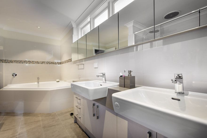 A designer bathroom that provides space for everyone is life-changing!