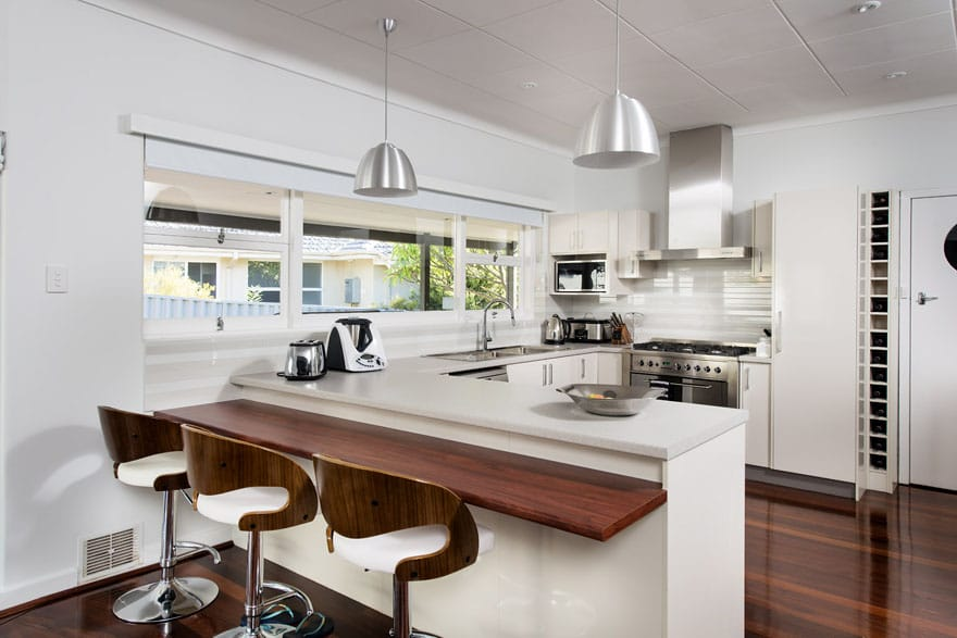 With this kitchen at the heart of the living area, it's a great space for the family to gather and talk.